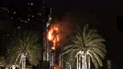 Fire Breaks Out in Dubai Skyscraper Near the Burj Khalifa ...
