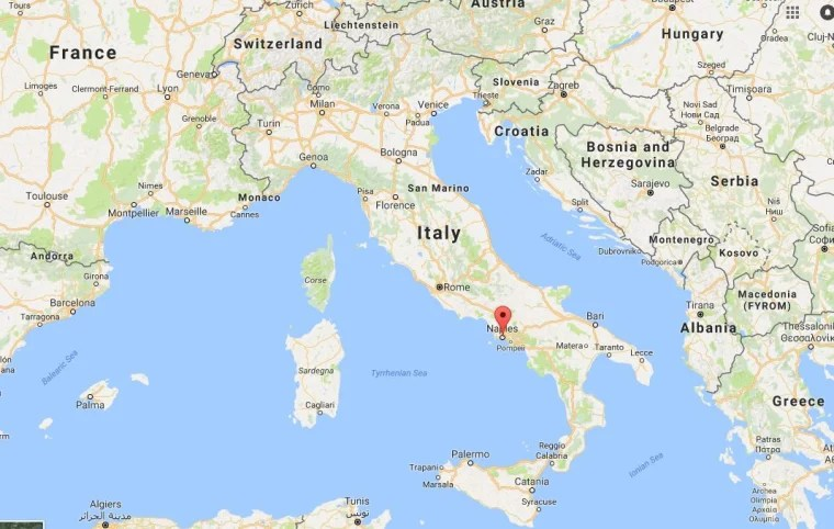 Map Naples Italy Cities And Towns