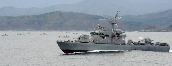 Image: South Korea patrol boat in the country's northernmost Jeodo fishery ground bordering North Korea