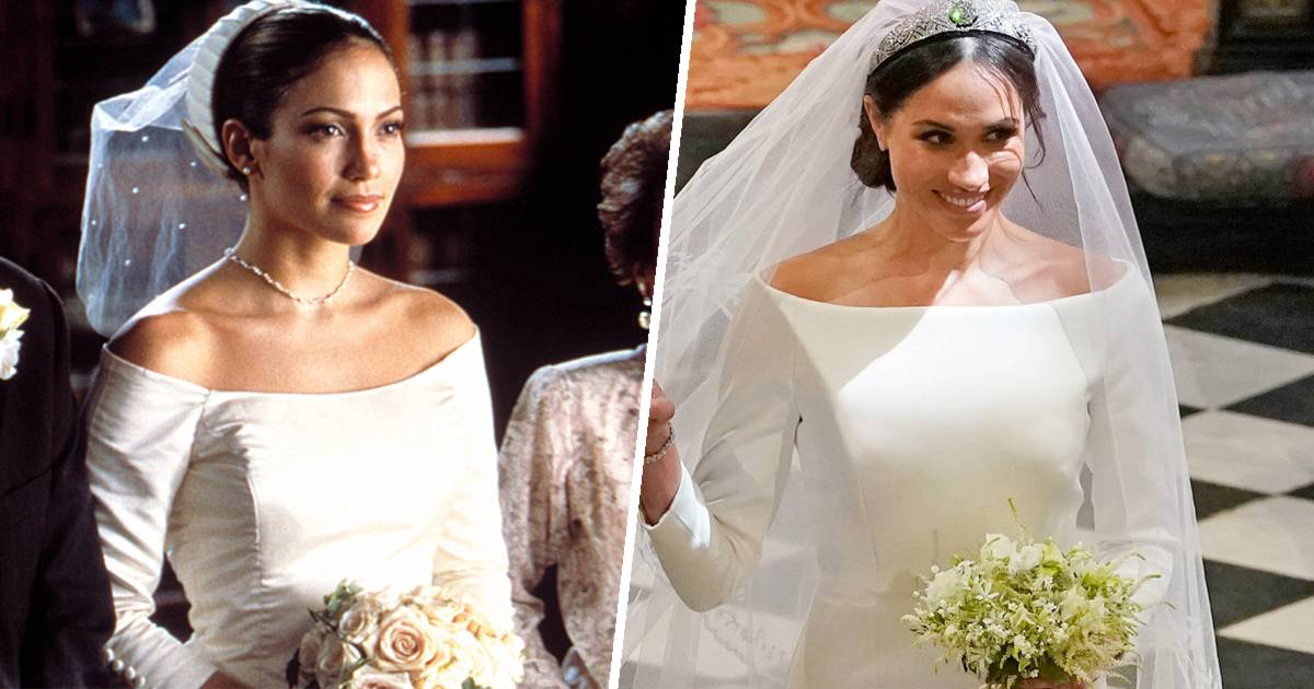 Meghan Markles dress looked like JLos from The Wedding
