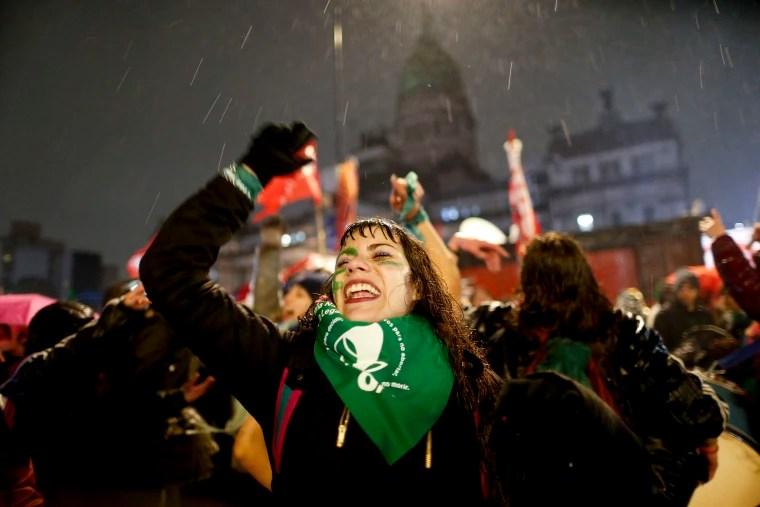 Image: Pro-abortion activists