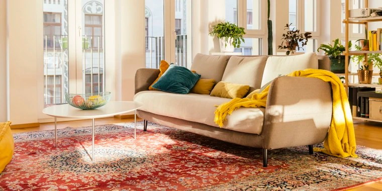 persian rug modern living room ideas with dark leather sofa these are the best places to buy area rugs for your home 2018