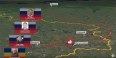 Image: Graphic provided by the Joint Investigation Team into the MH17 crash.