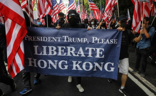 Hong Kong Protesters Sing Star Spangled Banner Appeal To