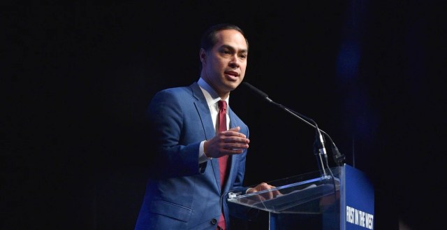 Democratic presidential candidate Julian Castro speaks in Las Vegas on Nov. 17, 2019.