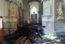 Church Volunteer Admits to Starting Fire at Cathedral of St. Peter and St. Paul in French City of Nantes