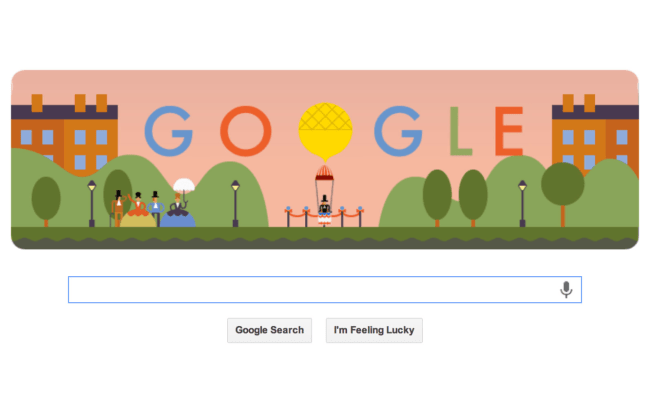 Google Commemorates World S First Parachute Jump With Fun