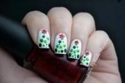 easy christmas nail art santa