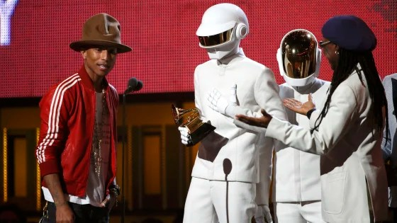 IMAGE: Pharrell Williams, Daft Punk, Nile Rodgers