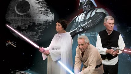 A group of seniors in nine communities across five states have produced a fun calendar recreating iconic movies like Star Wars.