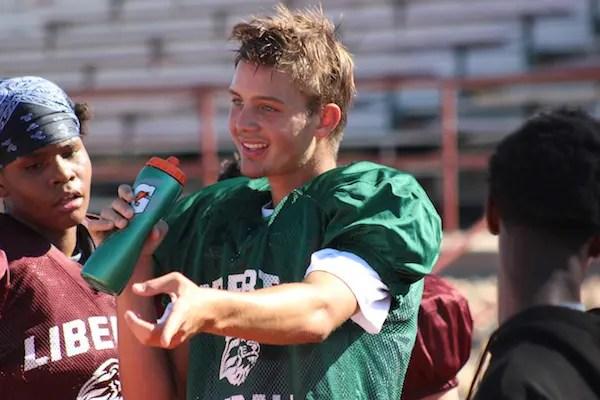 Jay Butterfield, Liberty, Football