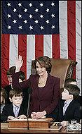 Nancy takes oath