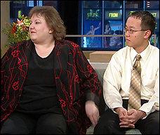 Jane Hambleton, with son Steven, appear on