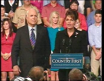 McCain chooses Alaska Gov. Sarah Palin for VP