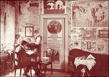 Una foto familiar, que muestra cómo estaban arreglados los afiches.
