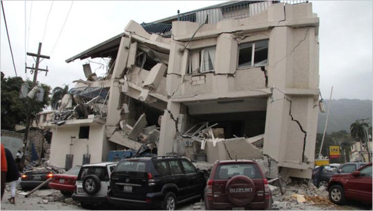 Washington Post photo of Haitian earthquake