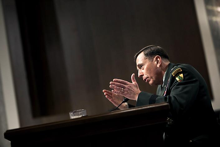 Commander of US-led NATO forces in Afghanistan General David Petraeus