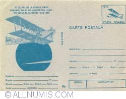 70 de ani de la primul zbor international de noapte din lume - Belgrad - Bucuresti (hartie inchisa la culoare)