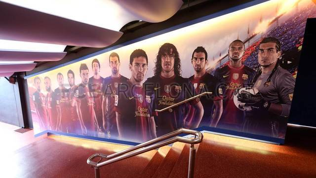 Scandinavian Wallpaper Hd Camp Nou Unveils Remodeled Dressing Room Tunnel