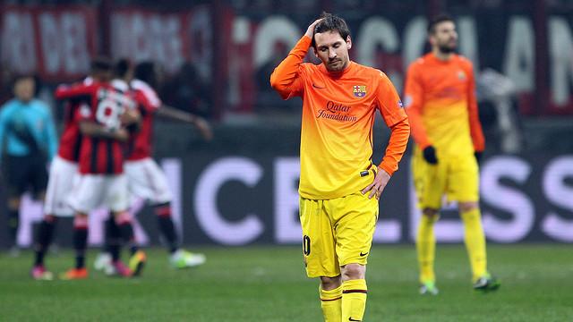 Barcelona fall short in Milan