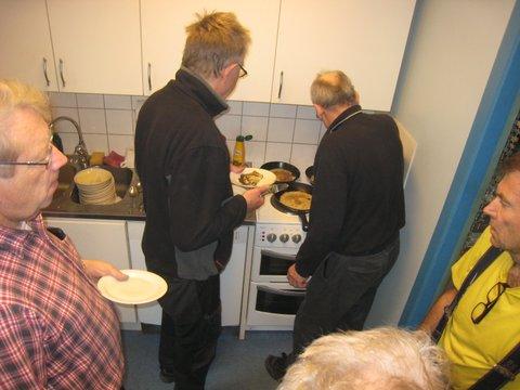 Som alltid, kö till pannkaksgräddaren Anders