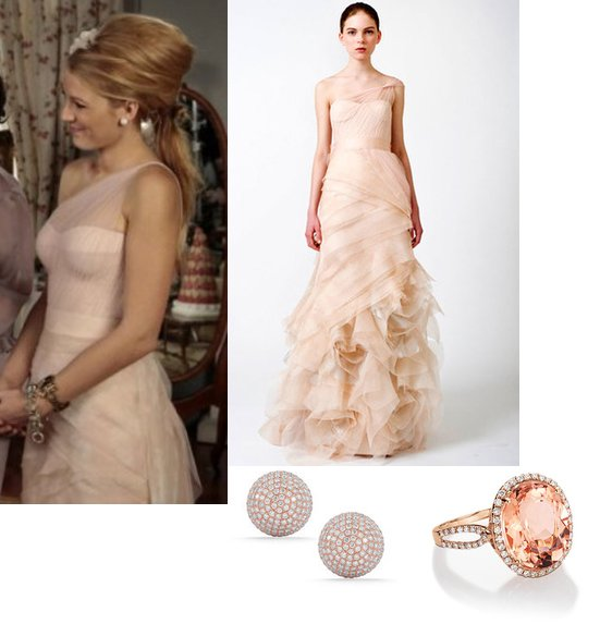 Gossip girl, Serena, maid if honour dress, hollywood fashion, Vera Wang, Farrah dress, gown, Spring 2011