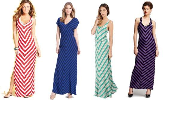 maxi dress, women, summer, cheap, chevron stirpes