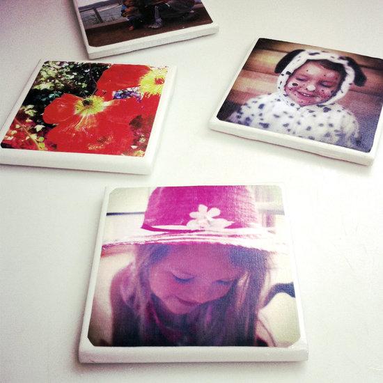diy tile photo coasters popsugar