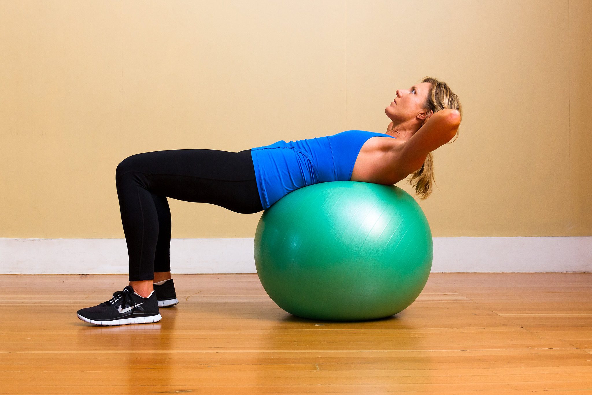 Upper Abs Crunches on Exercise Ball  The AllAbs Workout