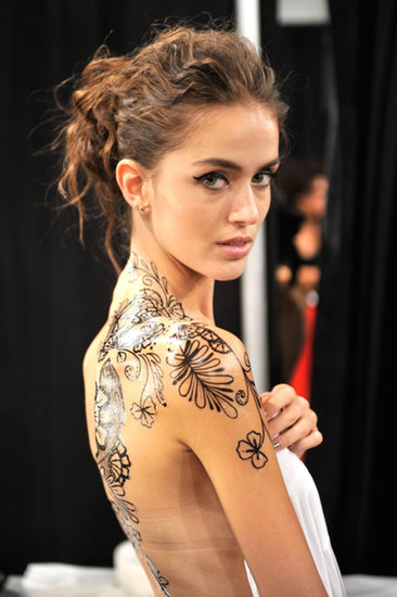 tracey reese spring 2014 tattoo backstage