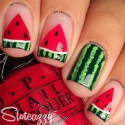 watermelon nail art popsugar