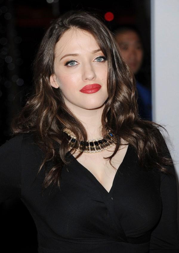 Kat Dennings Red Lips People' Choice Awards