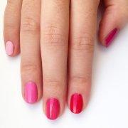 diy pink ombre nail art popsugar