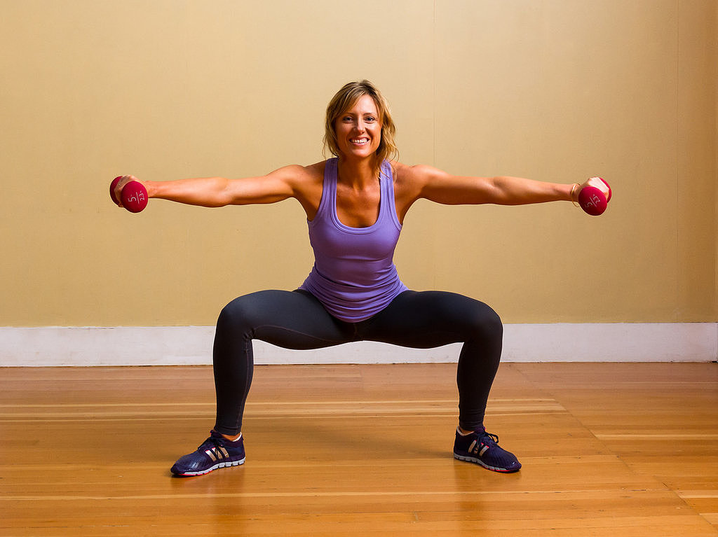 Sumo Squats With Lateral Raise  6 Ways to Tone Your