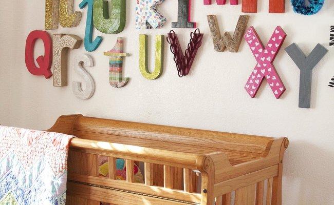 Wall Alphabet 11 Diy Decor Ideas For Baby S Nursery