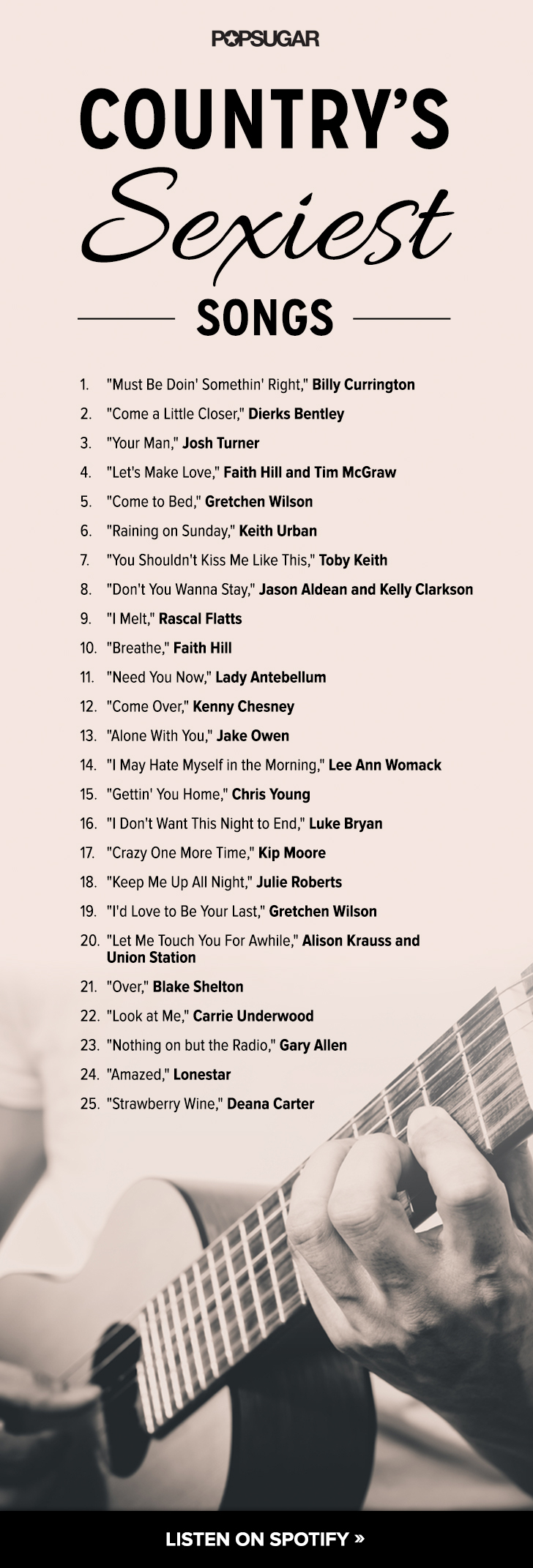 Country Love Songs  Playlists  POPSUGAR Love  Sex