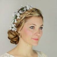 Braided Updo With Flowers DIY | POPSUGAR Beauty