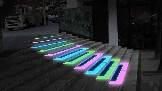 Piano Stairs What Lights To See At This Years Vivid