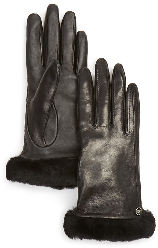 For the Instagramming Granny: Leather Tech Gloves