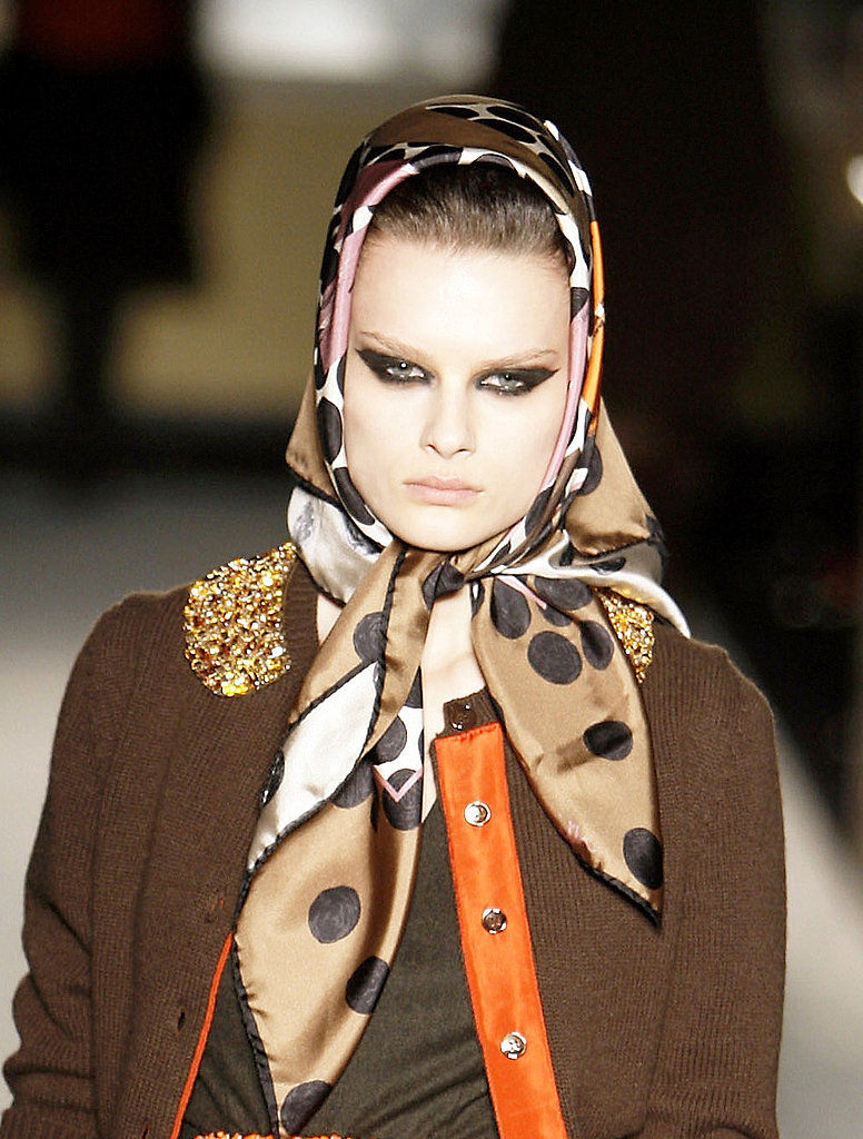 Autumn Winter Catwalk Trend Headscarves, as at Dolce