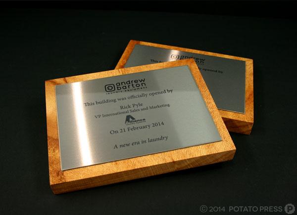 Andrew Barton Plaques  Potato Press