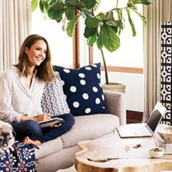Better Homes And Gardens Living Room Pictures Amish Furniture Jessica Alba Gives Tour Of Her Los Angeles Home — Check It ...