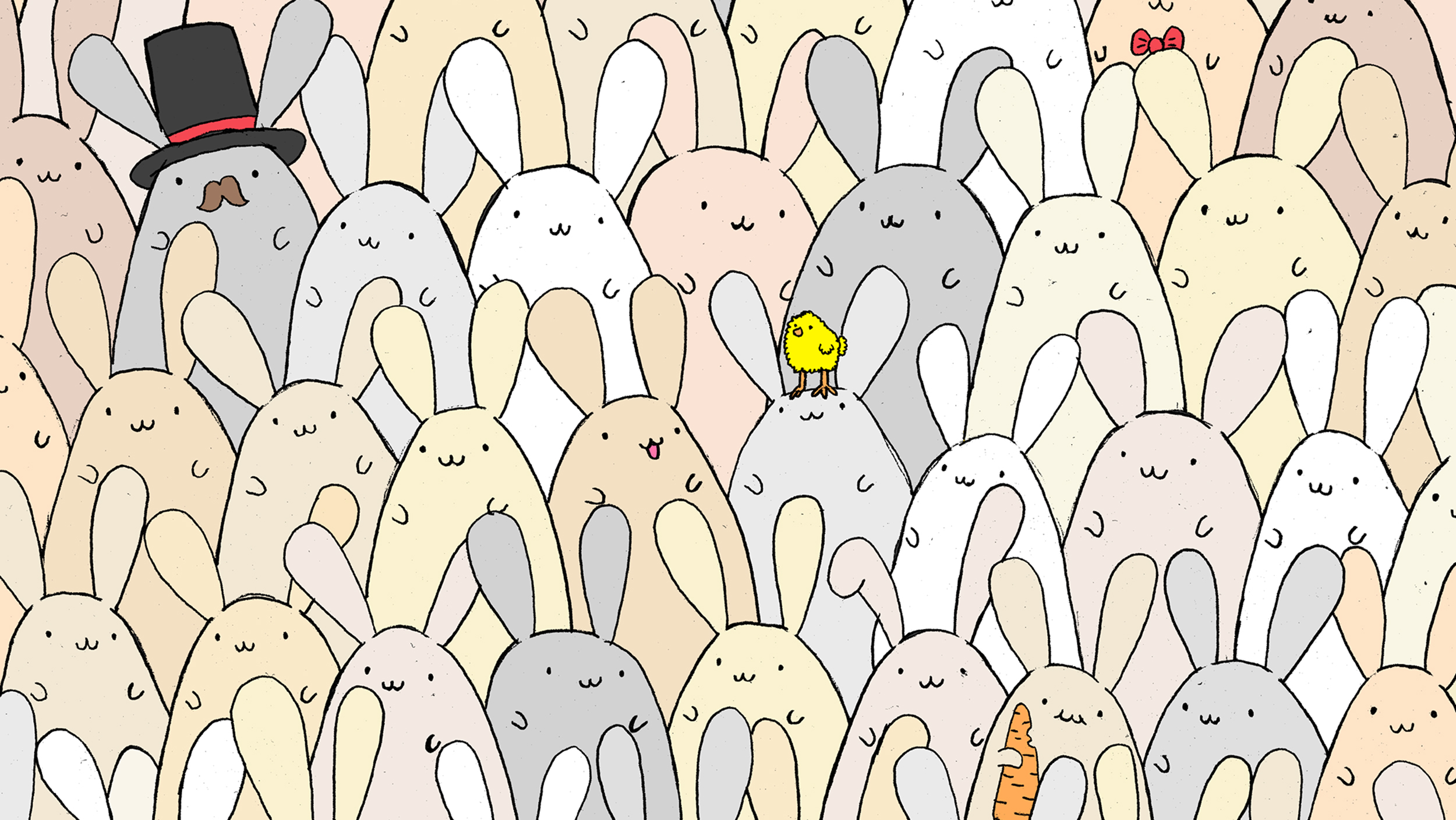 Can You Find The Easter Egg Hidden Among The Bunnies Try
