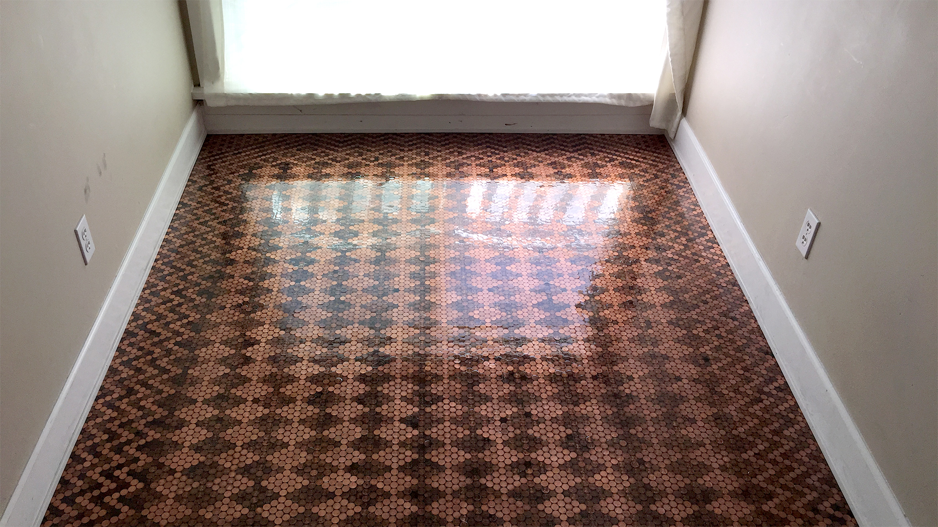 This DIY floor was made out of pennies  TODAYcom