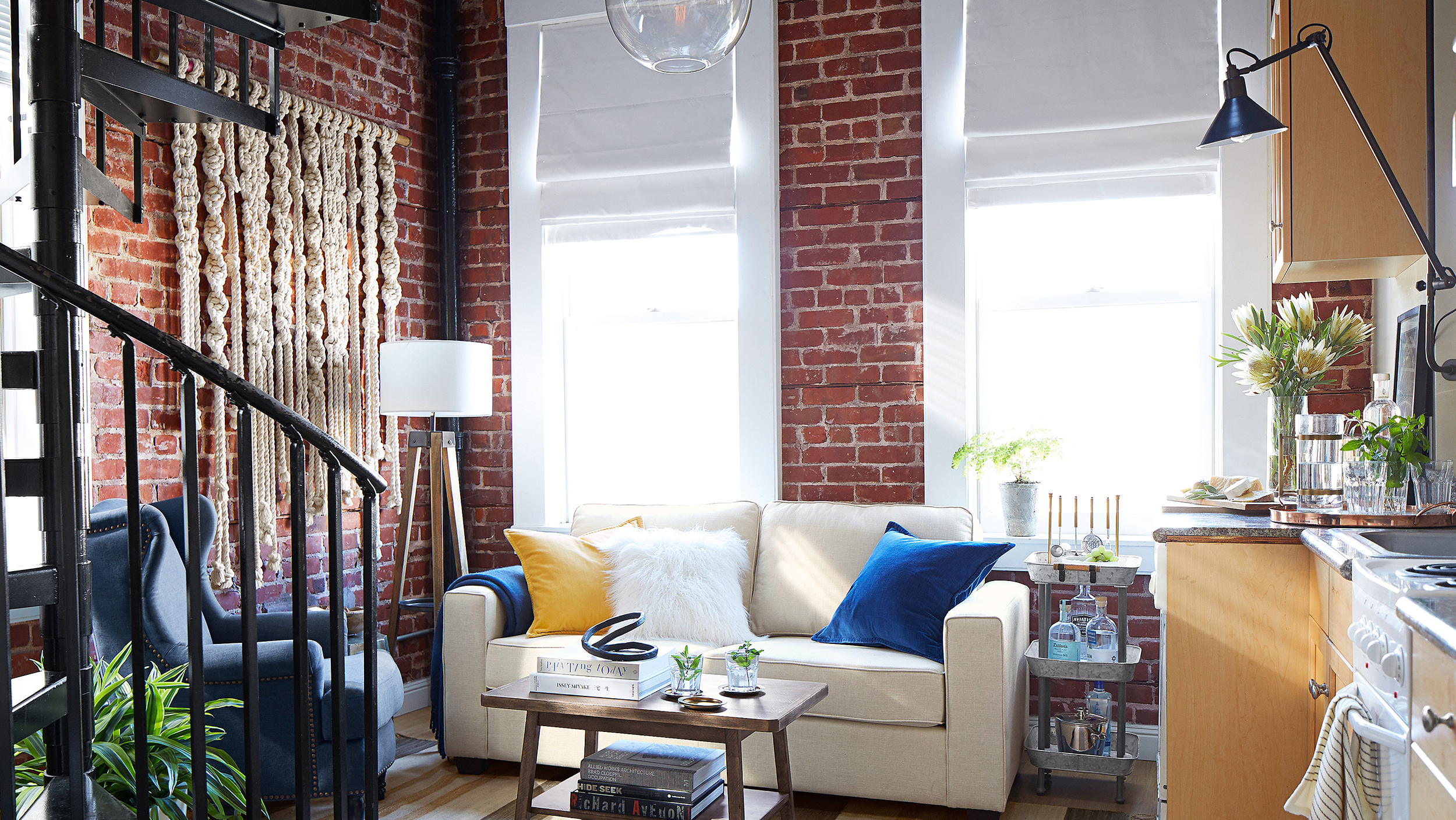 Pottery Barn apartment is designed for small spaces