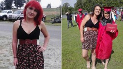 Mom Wears Dress to Daughters Graduation