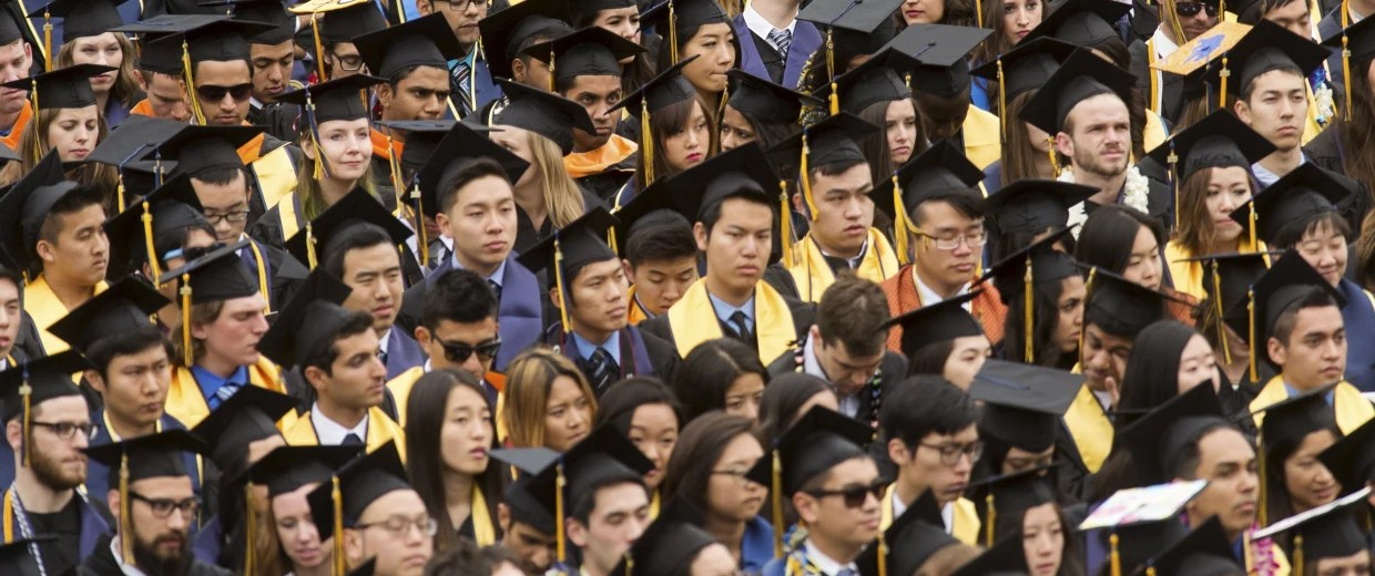 Image: Graduates attend commencement at University of California, Berkeley in Berkeley