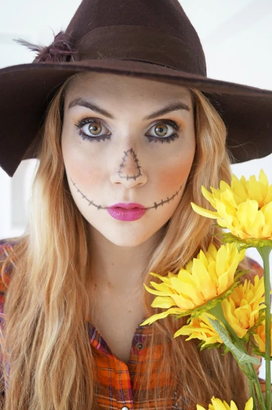 Easy Scarecrow Face Paint : scarecrow, paint, Halloween, Makeup, Ideas