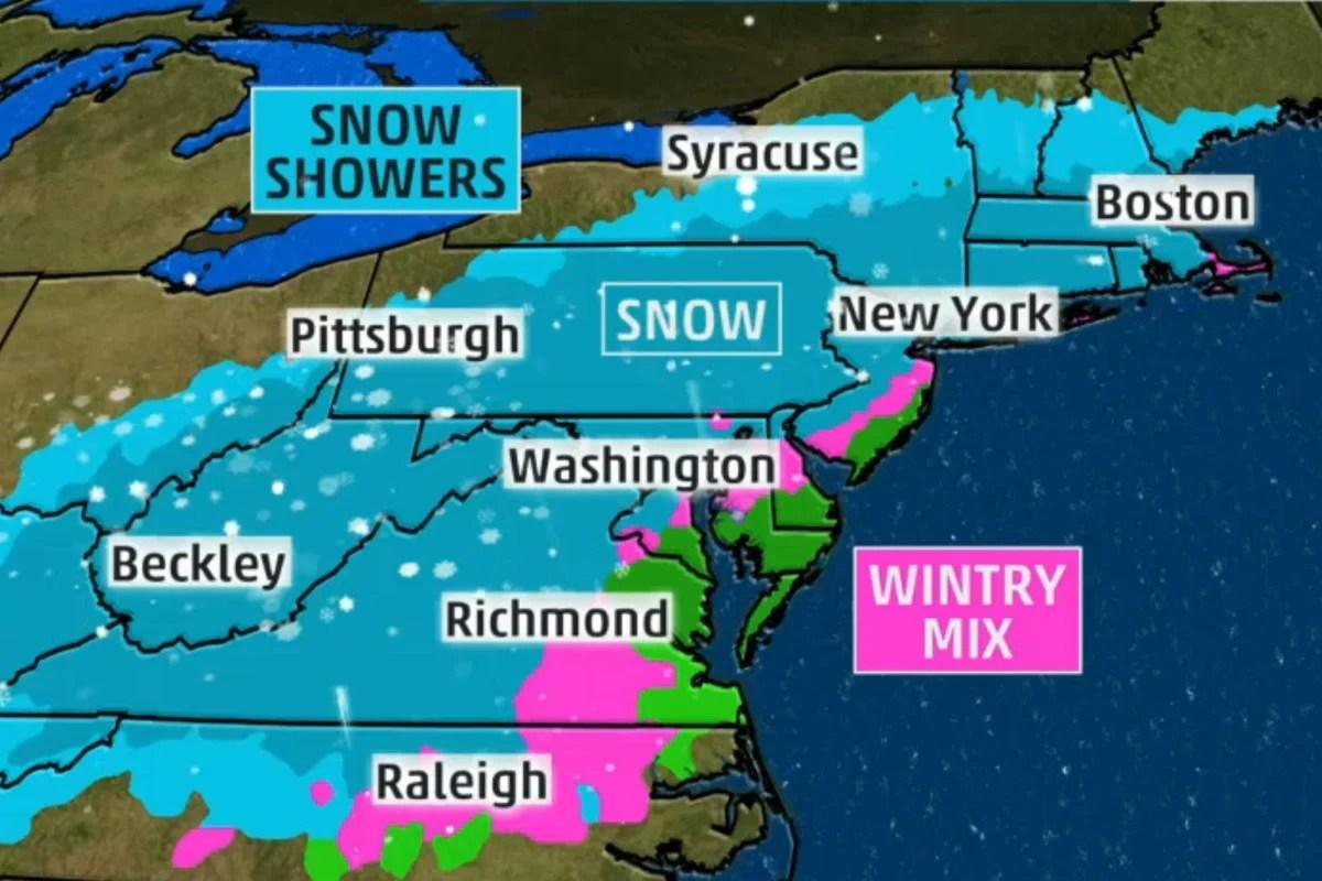 East Coast Weather Forecast Map