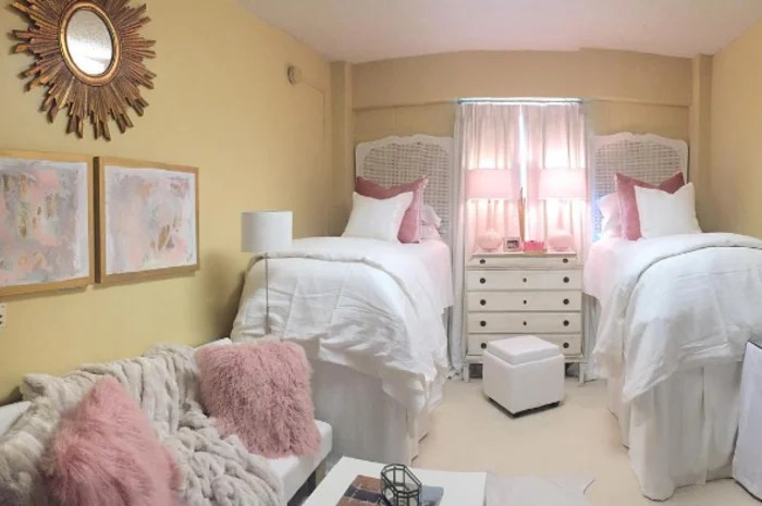 Best Girls Makeovers Wallpaper Ole Miss Dorm Room Goes Viral With Amazing Design Makeover